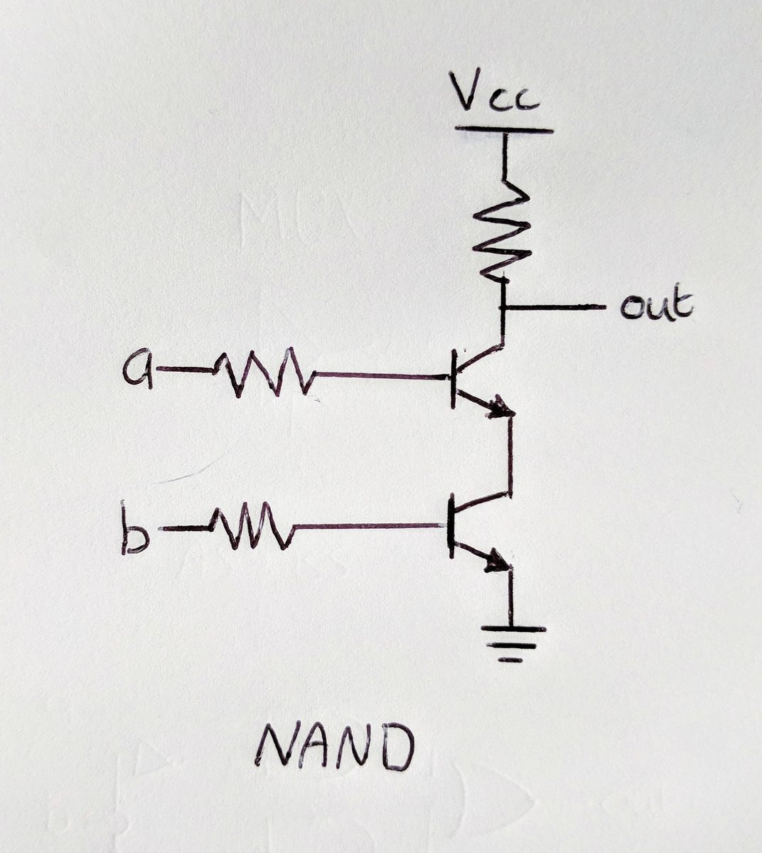 NAND made with transistors